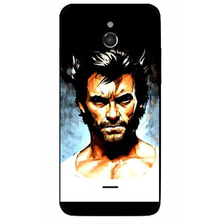 Snooky Printed Angry Man Mobile Back Cover For Infocus M2 - Multicolour