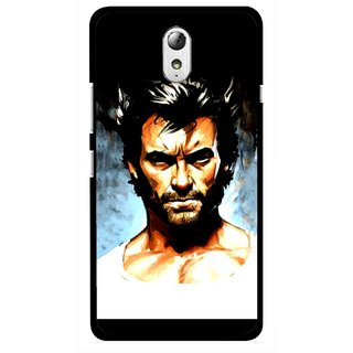 Snooky Printed Angry Man Mobile Back Cover For Lenovo Vibe P1M - Multicolour