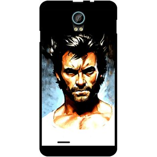 Snooky Printed Angry Man Mobile Back Cover For Intex Aqua Life 2 - Multicolour