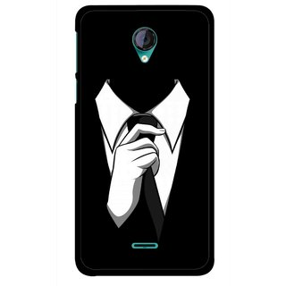 Snooky Printed White Collar Mobile Back Cover For Micromax Canvas Unite 2 - Multicolour