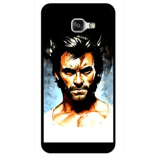 Snooky Printed Angry Man Mobile Back Cover For Samsung Galaxy A7 2016 - Multicolour