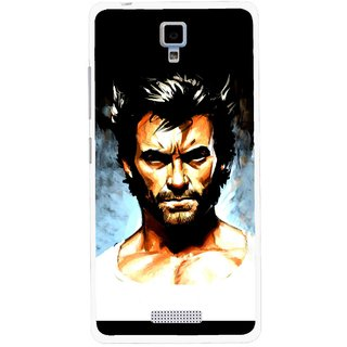Snooky Printed Angry Man Mobile Back Cover For Gionee Pioneer P4 - Multicolour