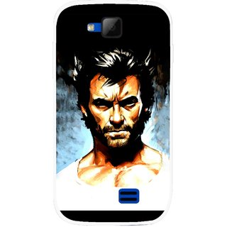 Snooky Printed Angry Man Mobile Back Cover For Micromax Canvas Fun A63 - Multicolour