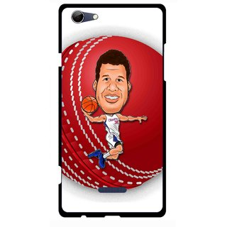 Snooky Printed Cricket Club Mobile Back Cover For Micromax Canvas Selfie 3 Q348 - Multi