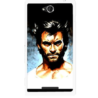 Snooky Printed Angry Man Mobile Back Cover For Sony Xperia C - Multicolour