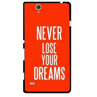 Snooky Printed Never Loose Mobile Back Cover For Sony Xperia C4 - Multicolour