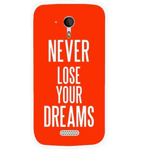 Snooky Printed Never Loose Mobile Back Cover For Micromax A116 - Multicolour