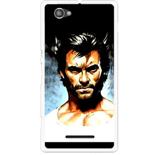 Snooky Printed Angry Man Mobile Back Cover For Sony Xperia M - Multicolour