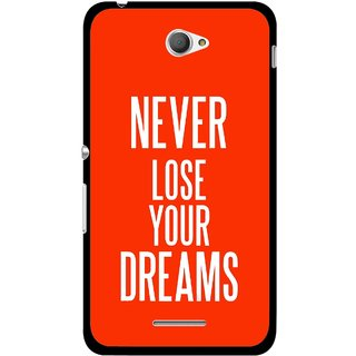 Snooky Printed Never Loose Mobile Back Cover For Sony Xperia E4 - Multicolour