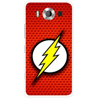 Snooky Printed Dont Touch Mobile Back Cover For Microsoft Lumia 950 - Multicolour