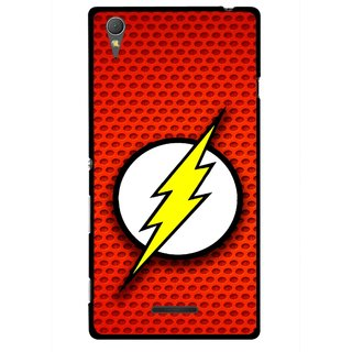 Snooky Printed Dont Touch Mobile Back Cover For Sony Xperia T3 - Multicolour