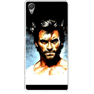 Snooky Printed Angry Man Mobile Back Cover For Sony Xperia X - Multicolour