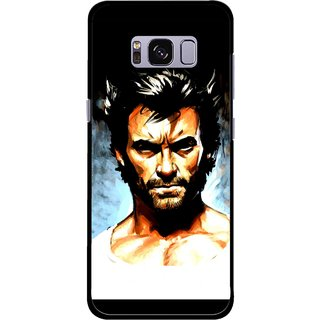 Snooky Printed Angry Man Mobile Back Cover For Samsung Galaxy S8 - Multicolour