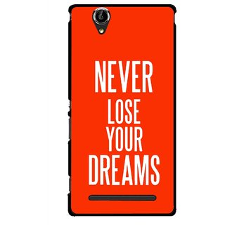Snooky Printed Never Loose Mobile Back Cover For Sony Xperia T2 Ultra - Multicolour