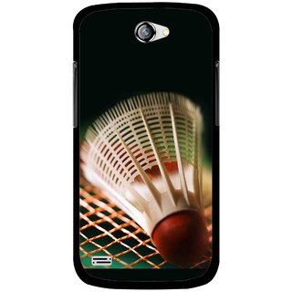 Snooky Printed Badminton Mobile Back Cover For Gionee Pioneer P3 - Multicolour
