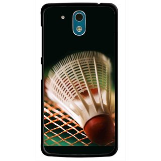 Snooky Printed Badminton Mobile Back Cover For HTC Desire 326G - Multicolour