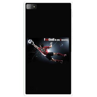Snooky Printed Football Passion Mobile Back Cover For Blackberry Z3 - Multi