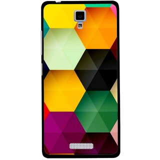 Snooky Printed Hexagon Mobile Back Cover For Gionee Pioneer P4 - Multicolour