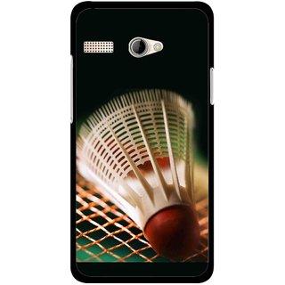 Snooky Printed Badminton Mobile Back Cover For Intex Aqua 3G Pro - Multicolour