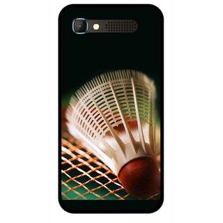 Snooky Printed Badminton Mobile Back Cover For Intex Aqua Y2 Pro - Multicolour