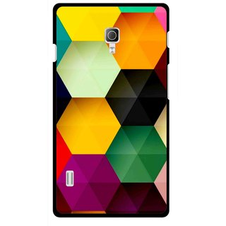 Snooky Printed Hexagon Mobile Back Cover For Lg Optimus L7 II P715 - Multicolour
