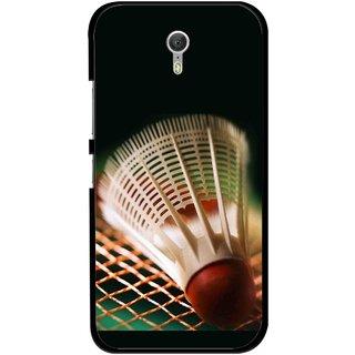 Snooky Printed Badminton Mobile Back Cover For Lenovo Zuk Z1 - Multicolour