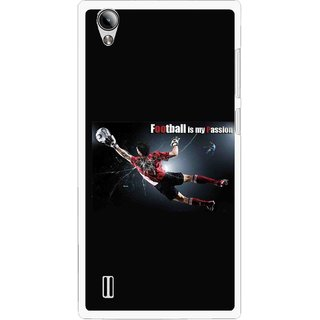 Snooky Printed Football Passion Mobile Back Cover For Vivo Y15 - Multi