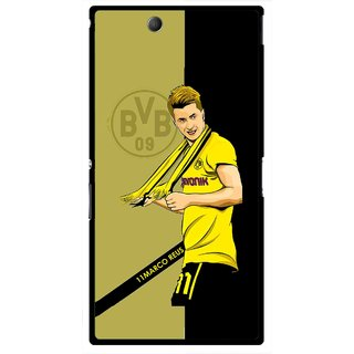 Snooky Printed Sports Player Mobile Back Cover For Sony Xperia Z Ultra - Multicolour