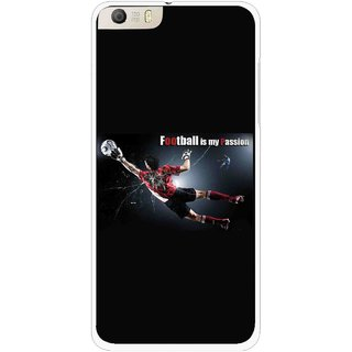 Snooky Printed Football Passion Mobile Back Cover For Micromax Canvas Knight 2 E471 - Multi