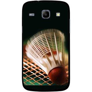 Snooky Printed Badminton Mobile Back Cover For Samsung Galaxy Core - Multicolour