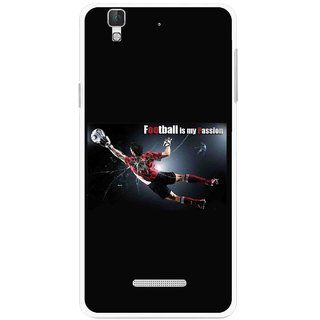 Snooky Printed Football Passion Mobile Back Cover For Micromax Yu Yureka Plus - Multi