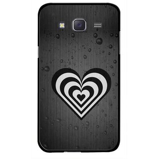 Snooky Printed Hypro Heart Mobile Back Cover For Samsung Galaxy J7 - Multicolour