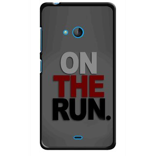Snooky Printed On The Run Mobile Back Cover For Nokia Lumia 540 - Multicolour
