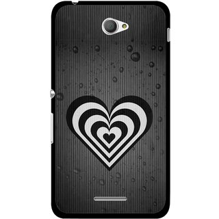 Snooky Printed Hypro Heart Mobile Back Cover For Sony Xperia E4 - Multicolour