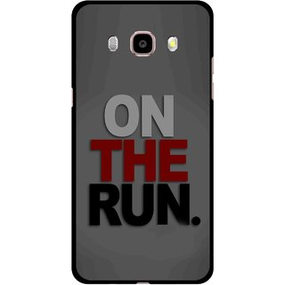 Snooky Printed On The Run Mobile Back Cover For Samsung Galaxy J7 (2016) - Multicolour