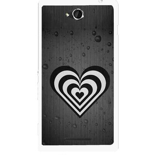 Snooky Printed Hypro Heart Mobile Back Cover For Sony Xperia C - Multicolour