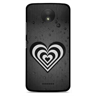Snooky Printed Hypro Heart Mobile Back Cover For Motorola Moto C Plus - Multicolour