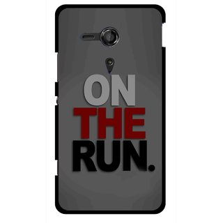 new style 2a1fb bf075 Snooky Printed On The Run Mobile Back Cover For Sony Xperia SP - Multicolour