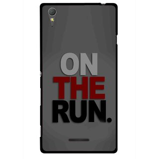 Snooky Printed On The Run Mobile Back Cover For Sony Xperia T3 - Multicolour