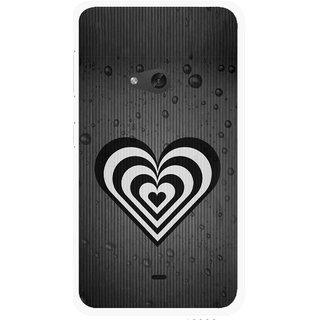 Snooky Printed Hypro Heart Mobile Back Cover For Nokia Lumia 625 - Multicolour