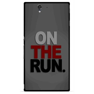 Snooky Printed On The Run Mobile Back Cover For Sony Xperia Z - Multicolour