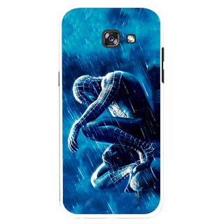 Snooky Printed Blue Hero Mobile Back Cover For Samsung Galaxy A7 (2017) - Multicolour