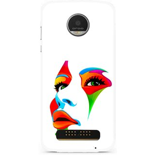 Snooky Printed Modern Girl Mobile Back Cover For Moto Z Play - Multi