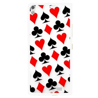 Snooky Printed Playing Cards Mobile Back Cover For Gionee Elife S5.1 - Multi
