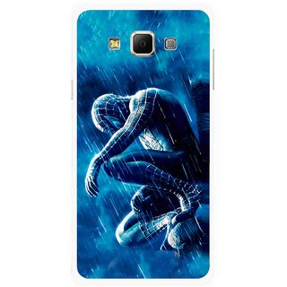 Snooky Printed Blue Hero Mobile Back Cover For Samsung Galaxy E7 - Multicolour