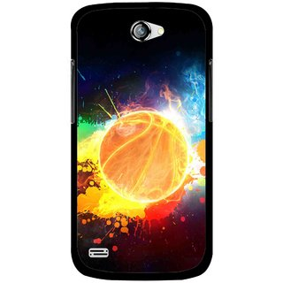 Snooky Printed Paint Globe Mobile Back Cover For Gionee Pioneer P3 - Multicolour