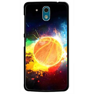 Snooky Printed Paint Globe Mobile Back Cover For HTC Desire 326G - Multicolour