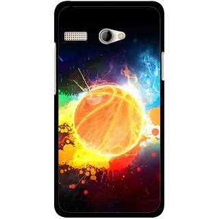 Snooky Printed Paint Globe Mobile Back Cover For Intex Aqua 3G Pro - Multicolour
