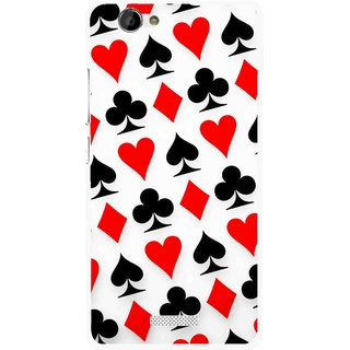 Snooky Printed Playing Cards Mobile Back Cover For Gionee M2 - Multi