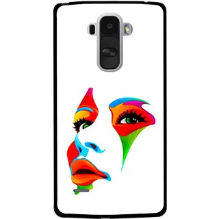 Snooky Printed Modern Girl Mobile Back Cover For Lg G4 Stylus - Multi
